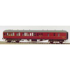 Bouwpakket - Hawksworth 3e klasse rijtuig met corridor en bagage afdeling GWR en BR