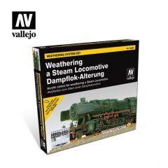 Vallejo model stoomtrein  - verweringsset - waterbasis acryl verf