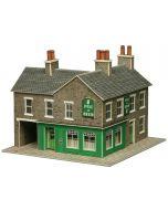 Bouwpakket N: Hoek winkel en pub in natuursteen -  Metcalfe - PN117