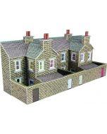 Bouwpakket N: half relief rijtjeshuizen natuursteen achterzijde - Metcalfe - PN177