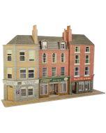 Bouwpakket HO/OO: Half relief Pub en winkels - Metcalfe - PO205
