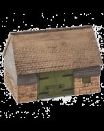 Bouwpakket HO: natuurstenen en houten schuur