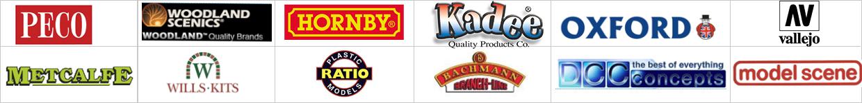 Merken engelsmodelspoor.shop, Peco, Woodland Scenics, Hornby, Kadee, Oxford Rail, Vallejo, Metcalfe, Bachmann, DCC concepts