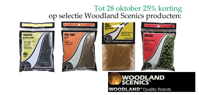 Woodland Scenics producten: tijdelijk 25% korting op een selectie